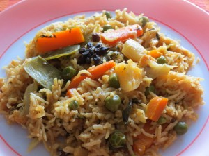 Veg Biryani with coconut milk