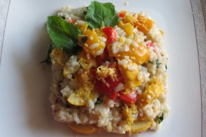 Risotto with Zucchini and Bell Peppers
