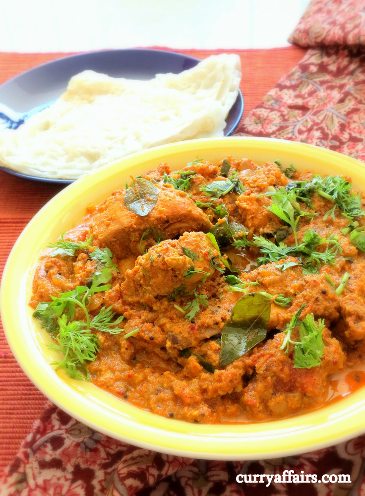 Chicken Sukka - Dry Spicy Chicken with Coconut (Tulu Style Kori Aajadina)