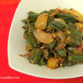 Bhindi Aloo - Ladysfinger and Potato Sabji