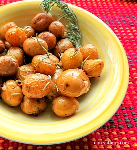 Yummy and easy Herbed Roast Baby Potatoes with Rosemary flavor