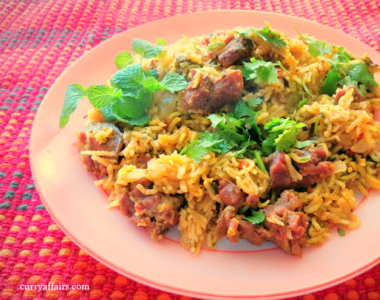 Tahari (Hyderabadi Meat and Tomato Rice)