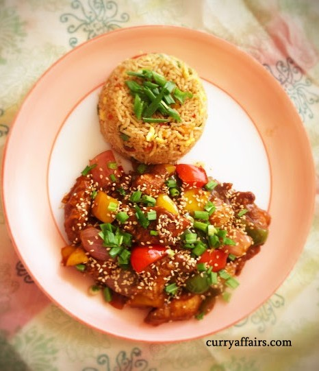 Sesame Chicken - Desi Style