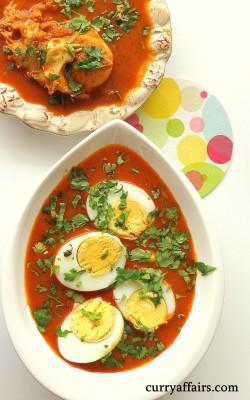 Konkani Egg curry (Ande/Mote Ambat)