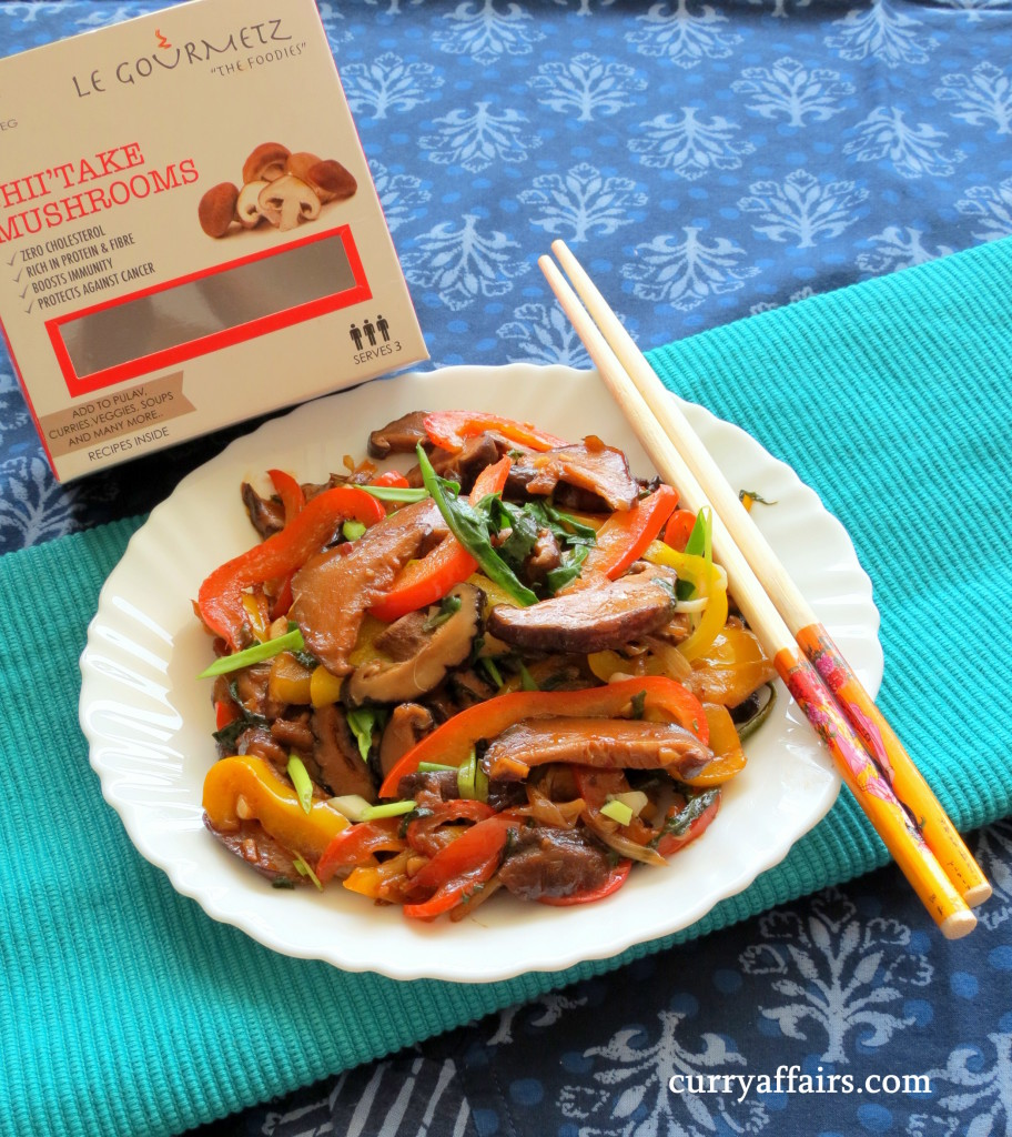 Shiitake mushrooms Stir Fried with Vegetables