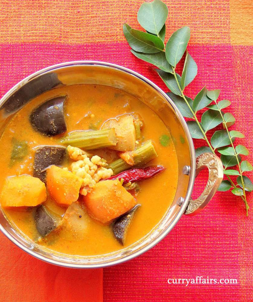 Kolmbo Konkani mixed vegetable Sambar