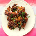 Spicy sticky chicken wings with indian twist